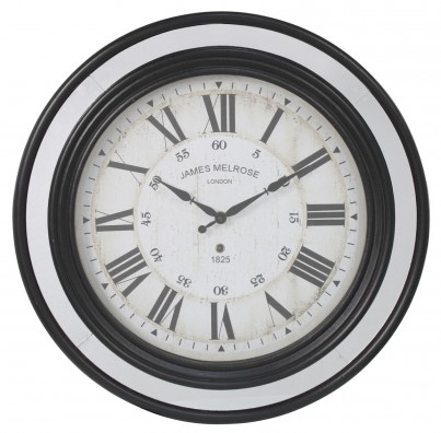 Antique Blue And Mirror Wall Clock