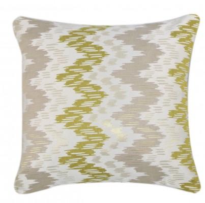 Green Abstract Zig Zag Cushion 1