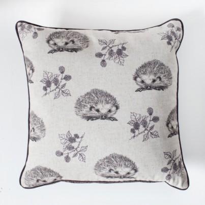 Hedgehog and Blackberry Cushion Plum
