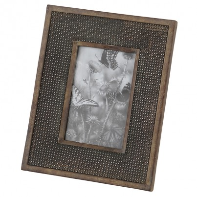 Charcoal Grey Studded Effect Photo Frame