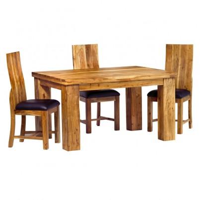 Indus Acacia 4-Seater Dining Set 1