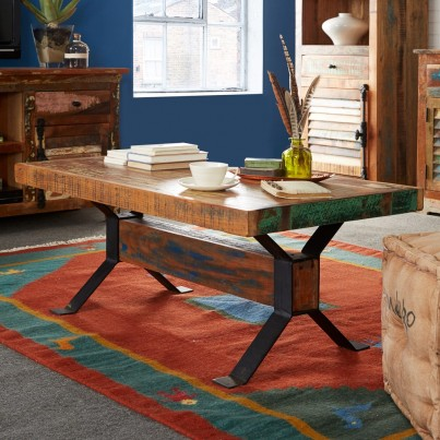 Reclaimed Indian Large Coffee Table 1