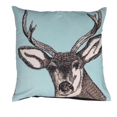 Aqua Stag Cushion 50cm x 50cm