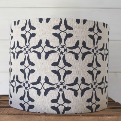 30cm x 24cm Navy on Natural Cumberland Cow Drum