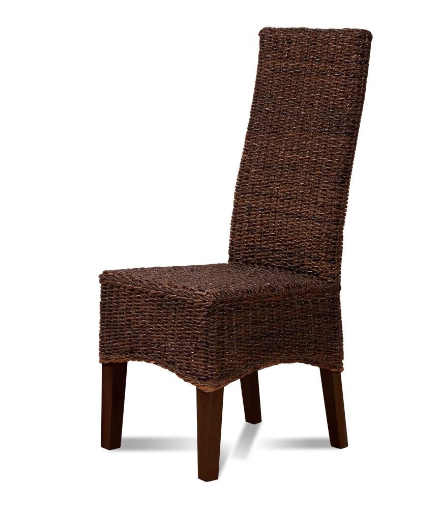 Indonesian Rattan Dining Chair Mahogany Frame Casa