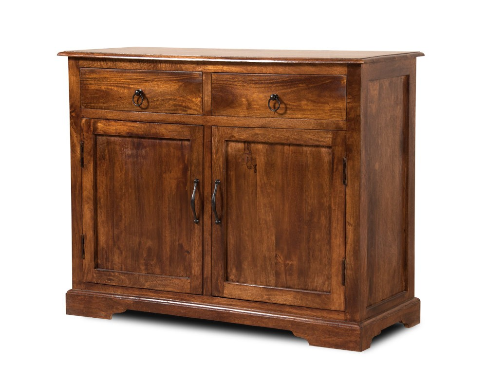 Solid indian mango wood small sideboard dining room for Sideboard indien