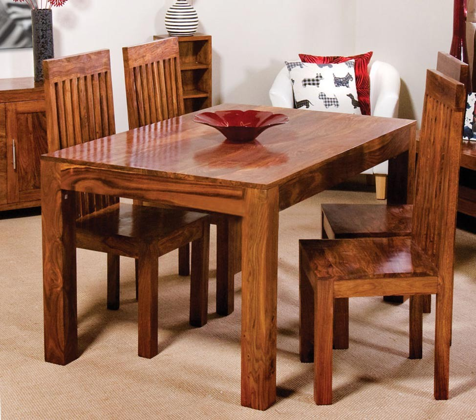 Cuba Sheesham 4 Seater Dining Set