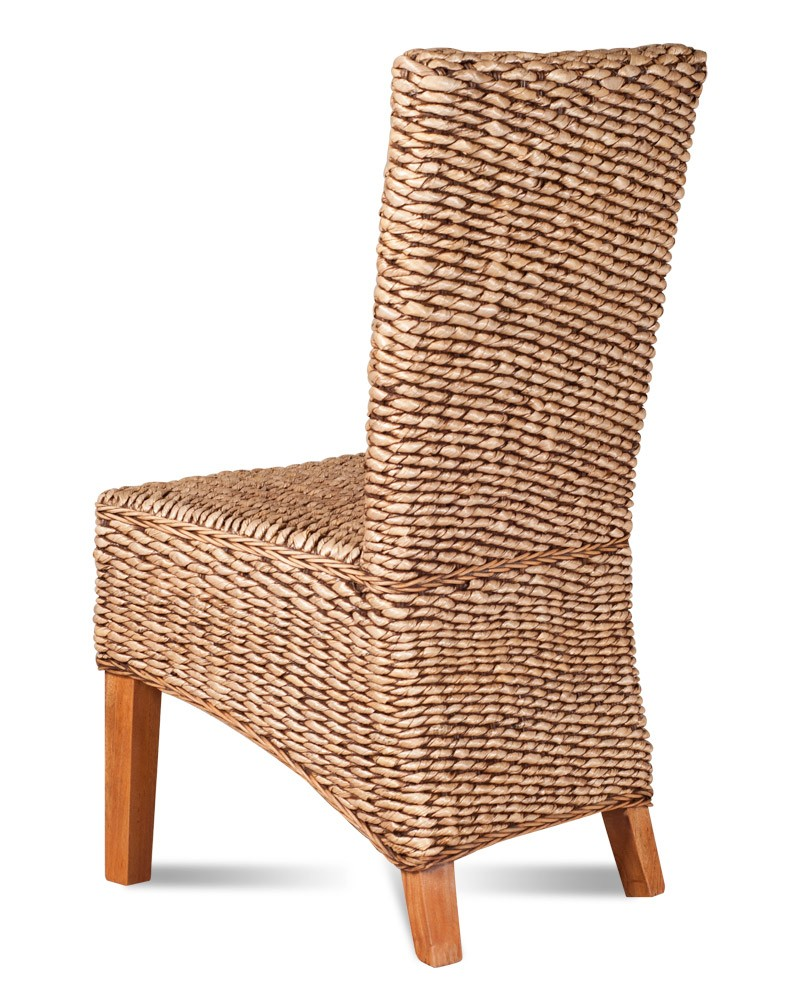 The uk s 1 for stunning reclaimed teak wood furniture - Dining Chair Light Banana Leaf Weave Casa Bella