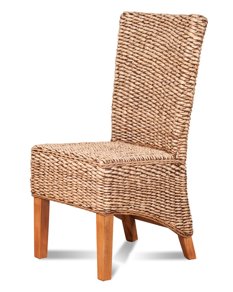 Dining Chair Light Banana Leaf Weave Casa Bella