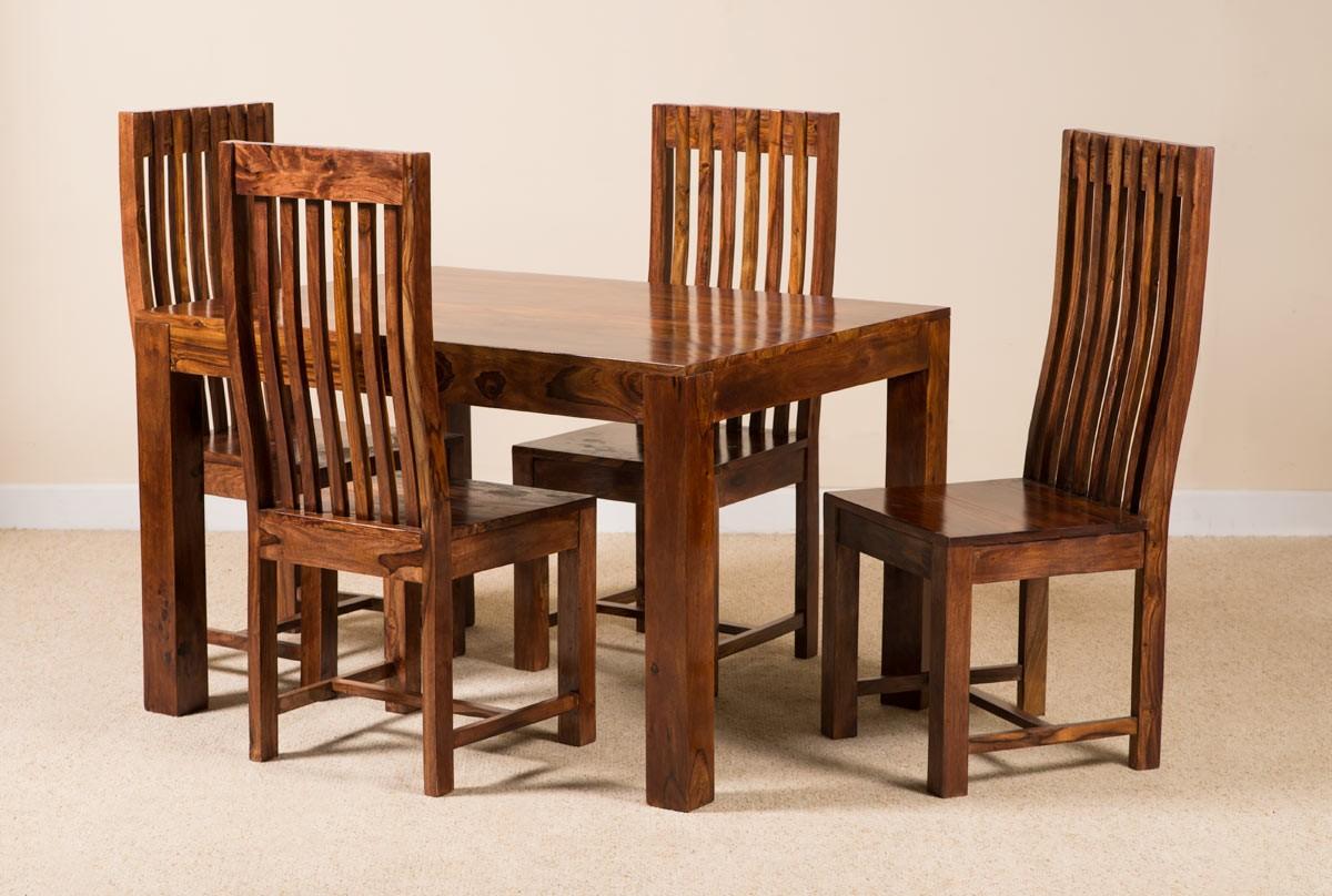 dfc32be5889 Kashmir Sheesham 4-Seater Dining Set 1