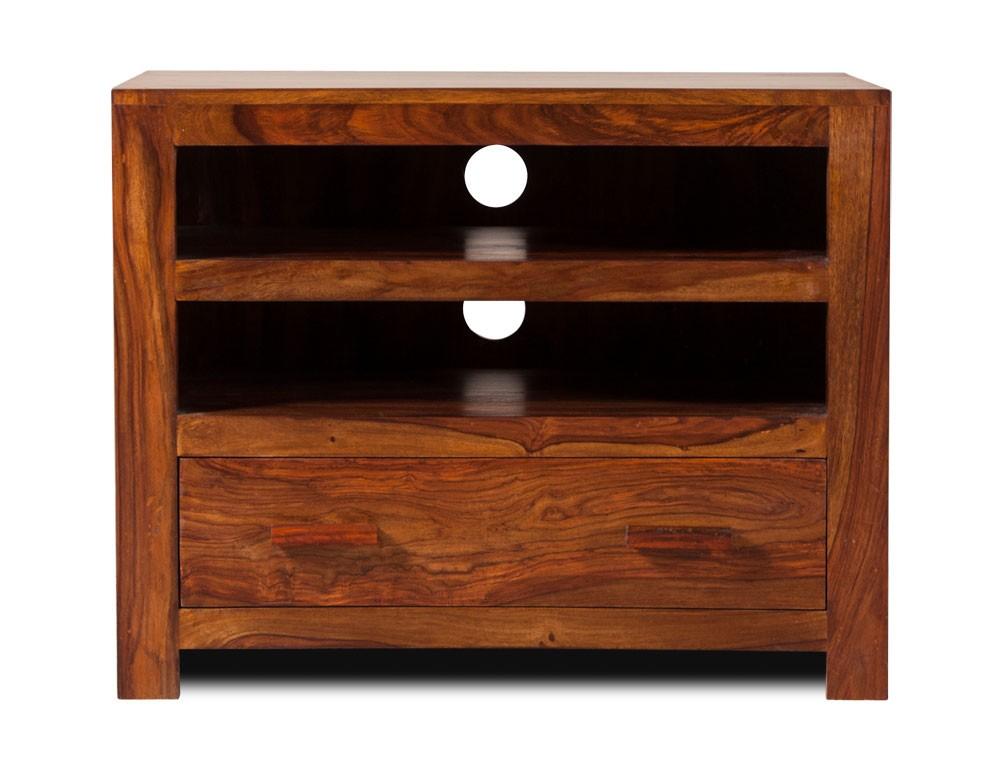 Handcrafted Solid Wood Tv Unit Small Casa Bella Sheesham Furniture