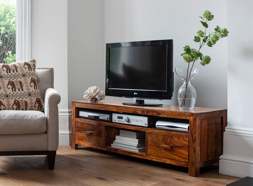 large solid wood media center casa bella sheesham indian furniture. Black Bedroom Furniture Sets. Home Design Ideas