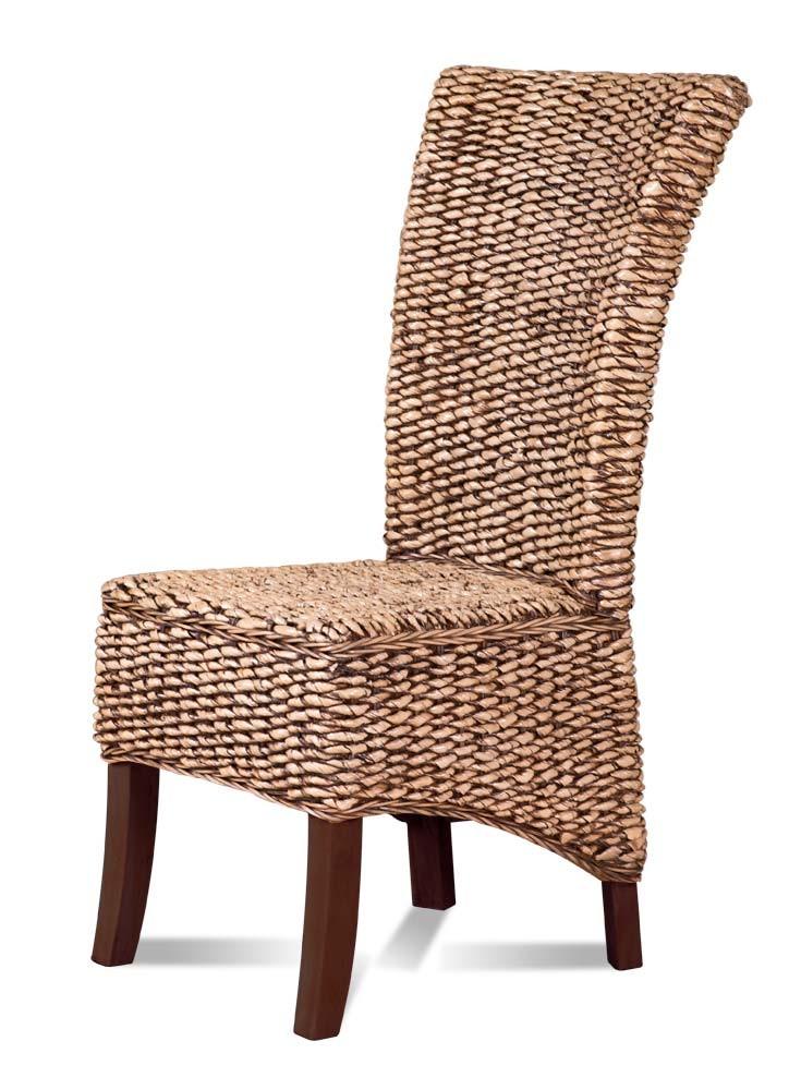 Dark Brown Rattan Dining Chair Mahogany Frame Casa