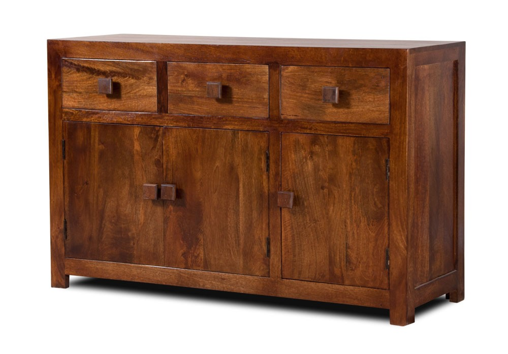The uk s 1 for stunning reclaimed teak wood furniture - Solid Mango Wood Sideboard Large Casa Bella