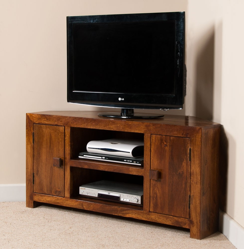 wooden corner units living room solid wood corner tv cabinet large dakota mango furniture 23910