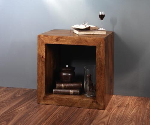 Dakota Mango Cube Side Table 1