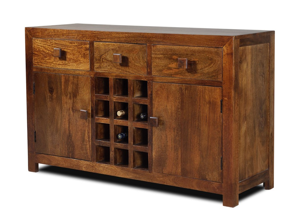Solid Mango Wood Sideboard With Drawers Casa Bella