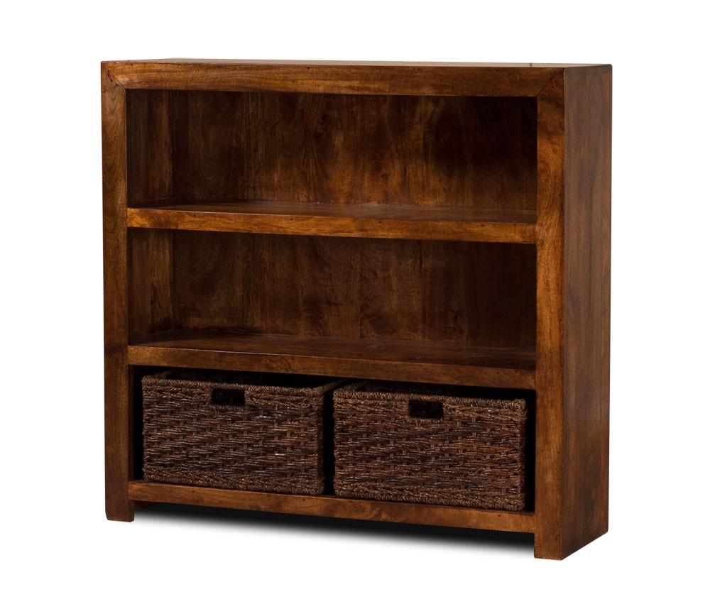 Solid Mango Wood Bookcase Small Casa Bella Fine Indian