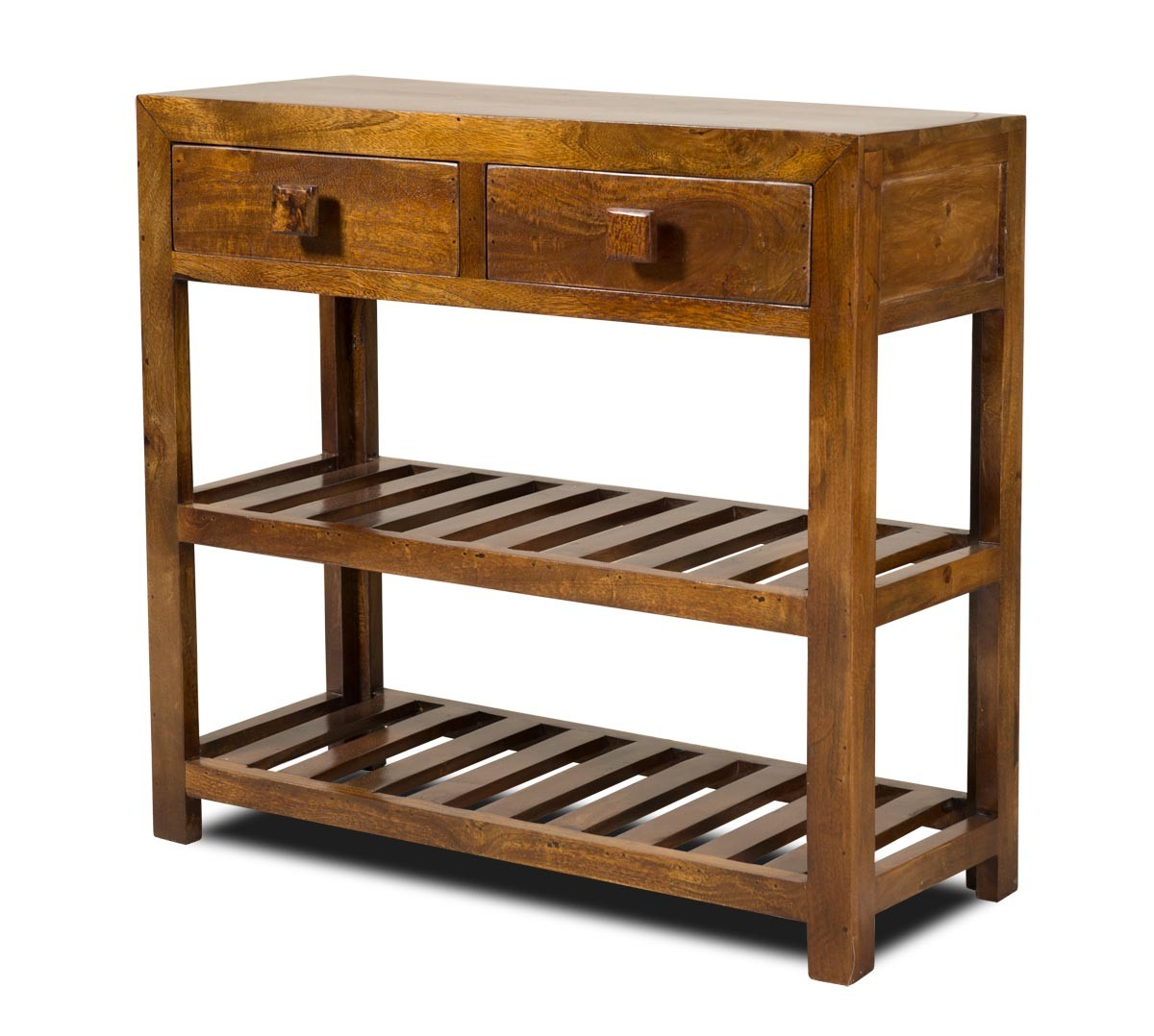 Solid mango wood console table casa bella fine indian for Small sofa table