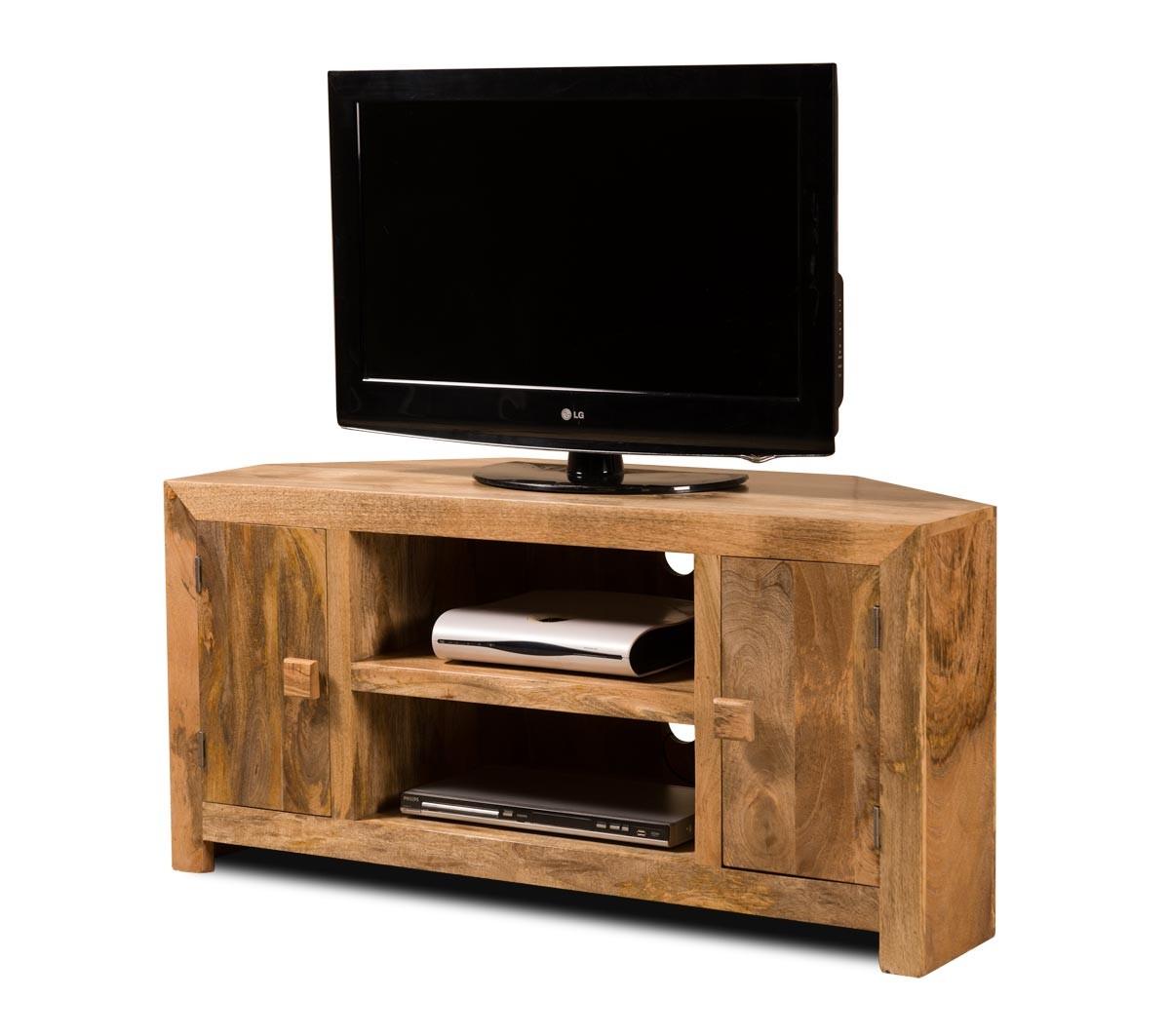 Solid Wood Corner Tv Cabinet Large Dakota Mango Furniture