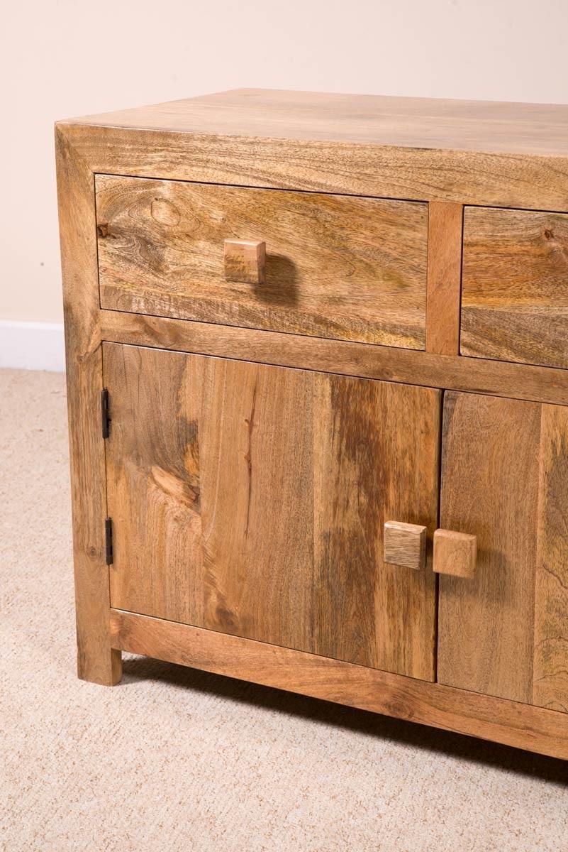Solid Mango Wood Sideboard Medium Casa Bella Fine
