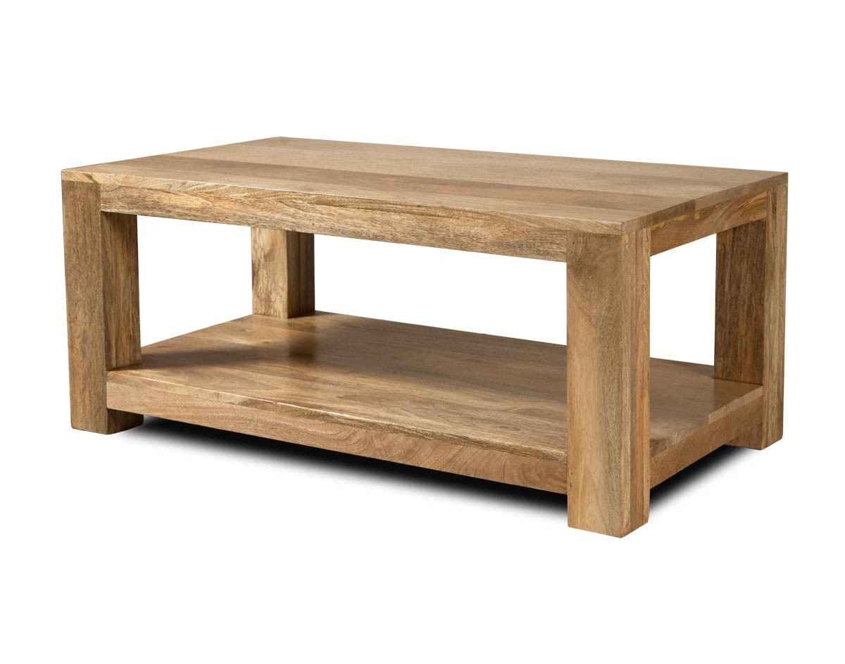 Solid Wood Open Coffee Table Mango Wood Table Casa Bella Furniture