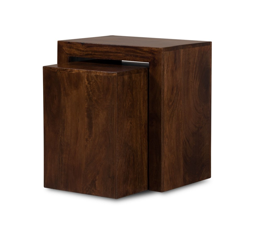 Set Of Three Solid Wood Nesting Tables Dakota Mango Furniture