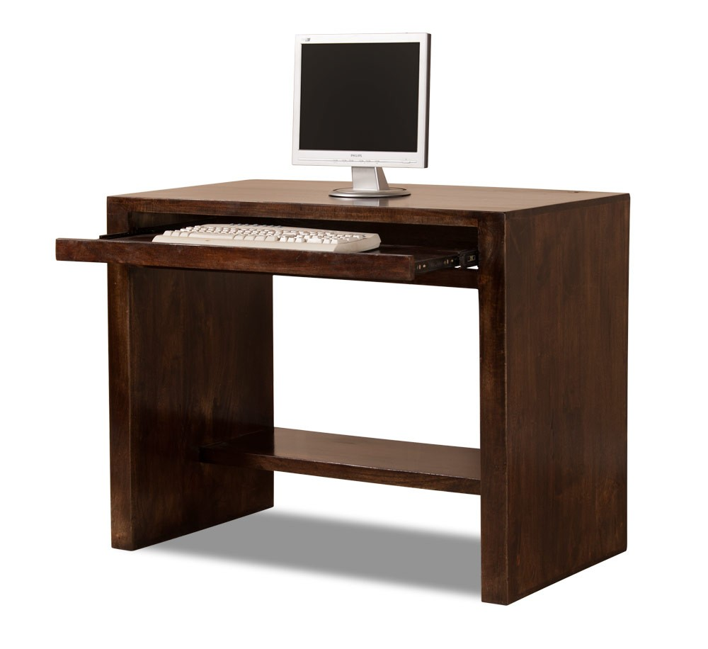 Wooden Computer Desk ~ Solid mango wood computer desk casa bella handcrafted