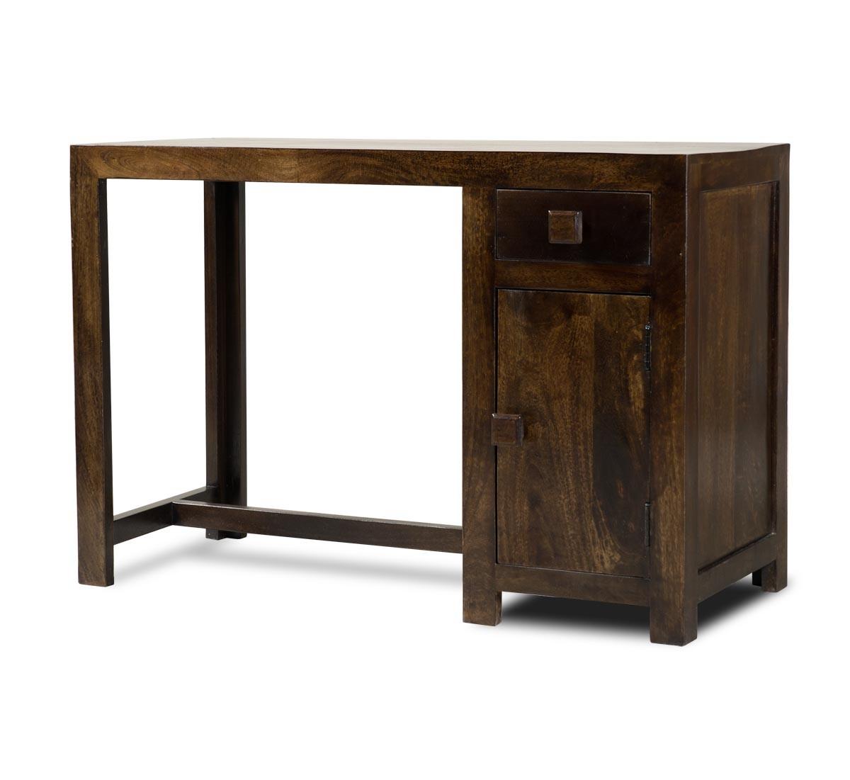 Solid Mango Wood Computer Desk Medium Casa Bella