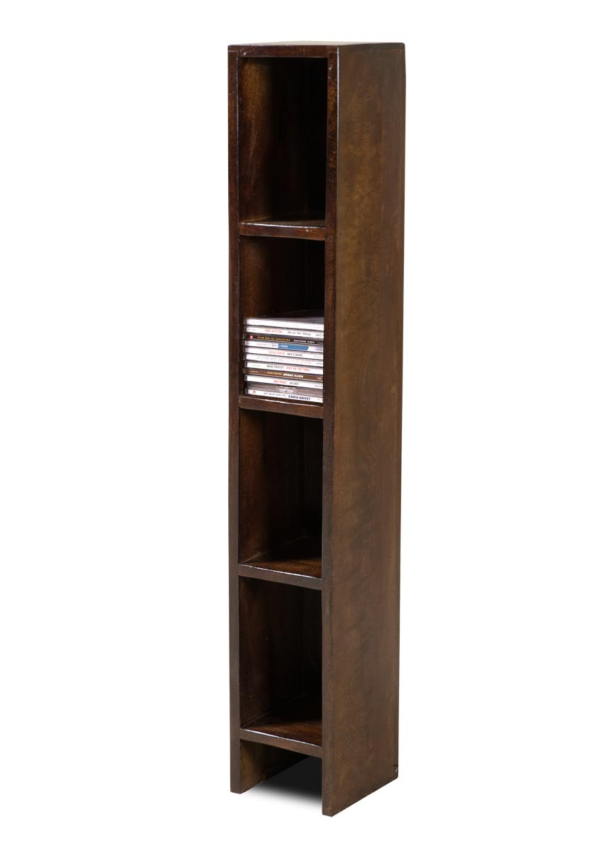 Dakota Dark Mango Slim Cd Tower