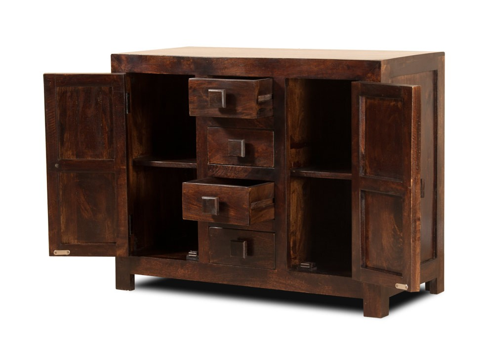 Natural Indian Wood Sideboard Small Mango Wood Cupboards