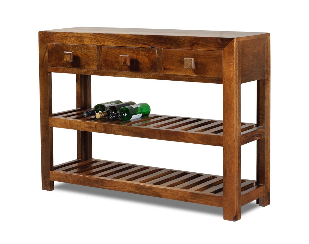Solid mango wood console table casa bella fine indian for Indian furniture