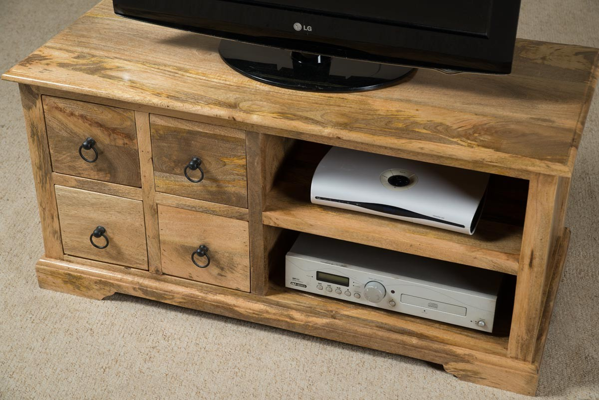 Open 42 Quot Tv Stand Mango Wood Coffee Table Hi Fi Media