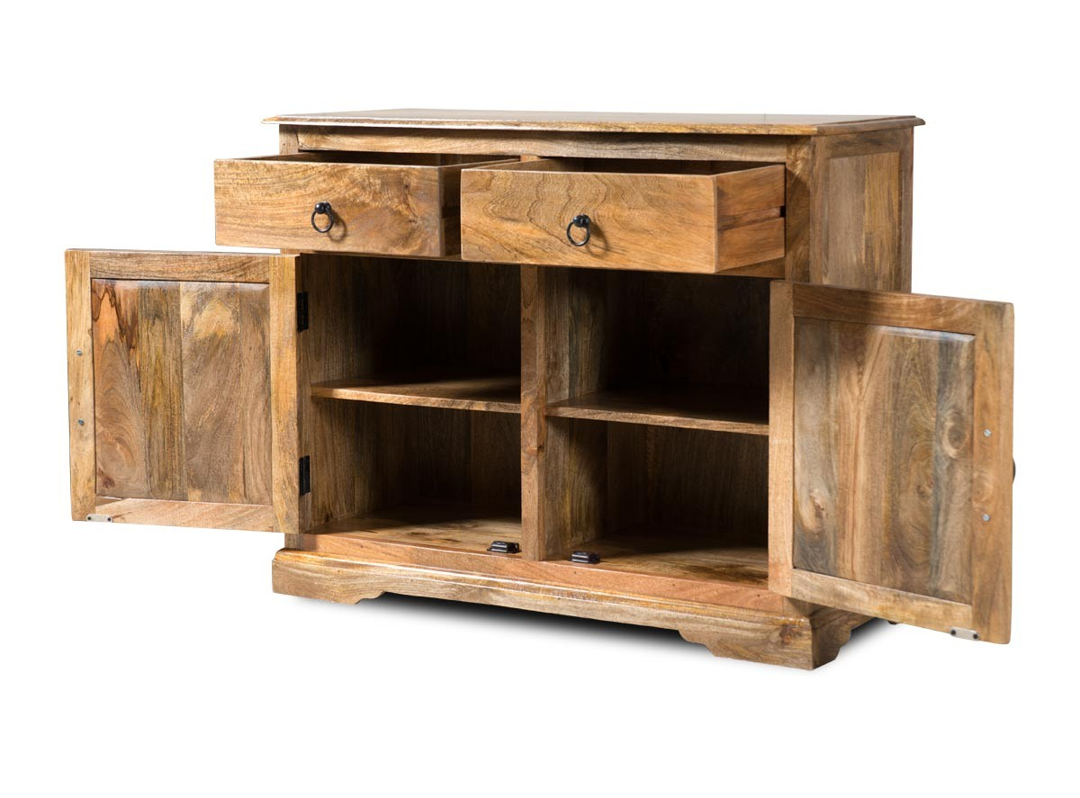 Solid Indian Mango Wood Small Sideboard Dining Room