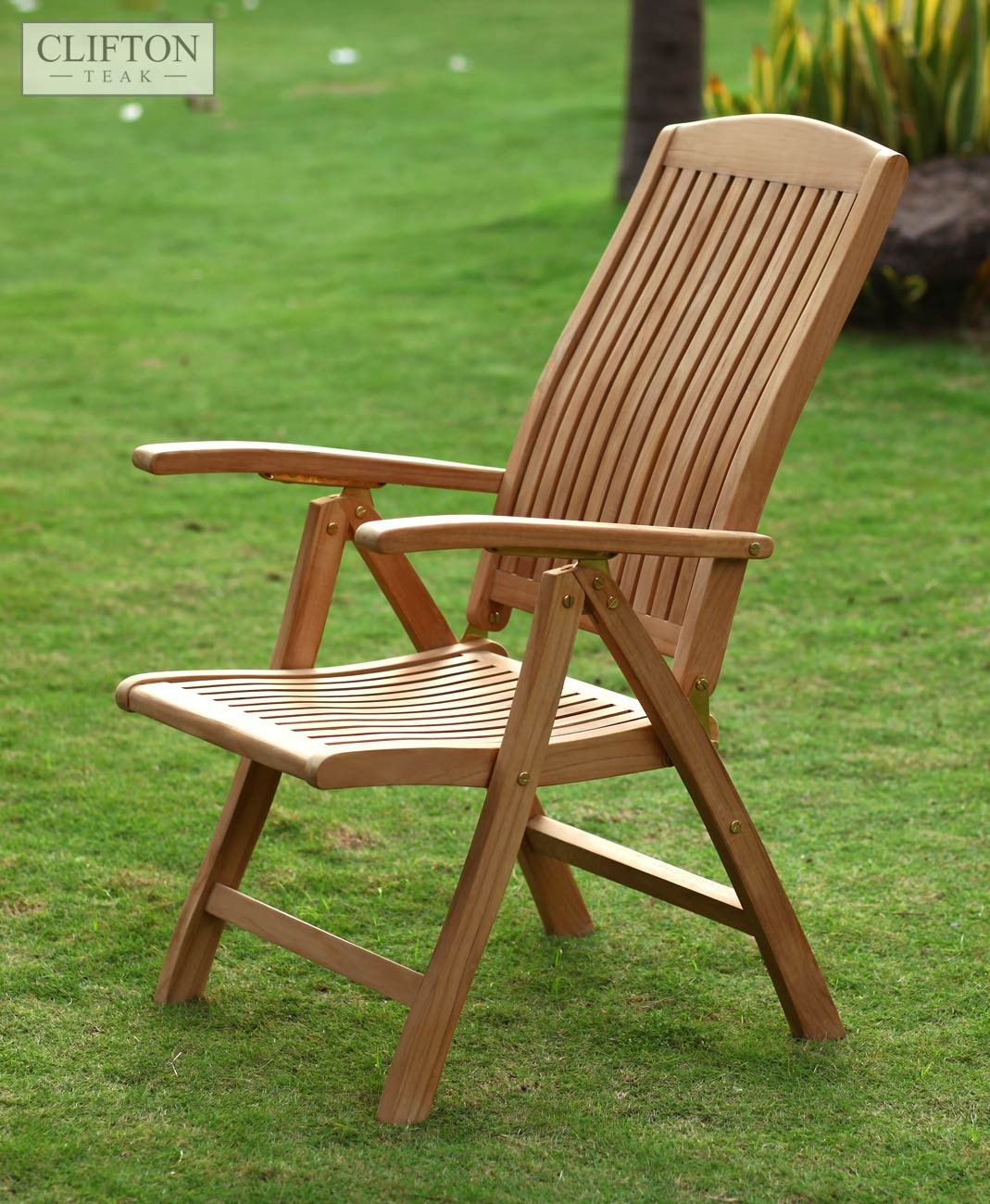 Teak Hampshire Reclining Armchair | 10 Reclining Positions ...
