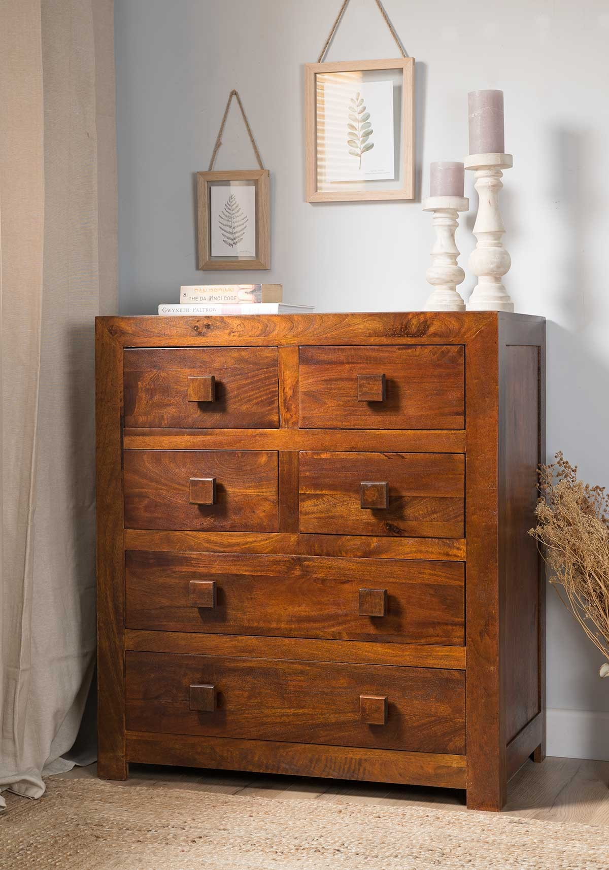 Solid Mango Wood Dresser And Drawers Casa Bella Indian