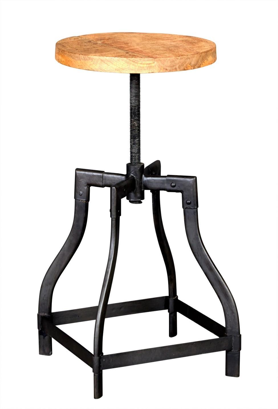 Imari Industrial Mango Stool Side Table