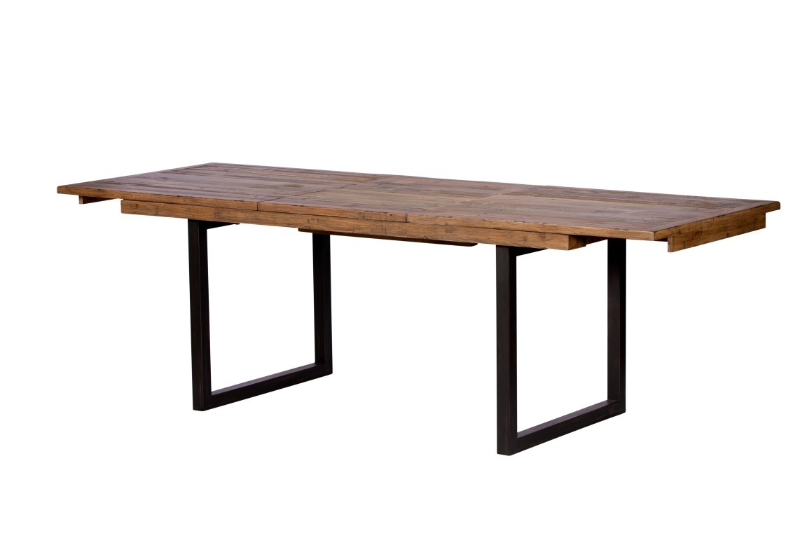 Brooklyn Industrial Extending Dining Table Reclaimed Solid