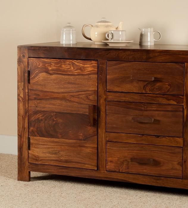 Sheesham Wood Furniture ~ Large solid wood sideboard casa bella sheesham indian