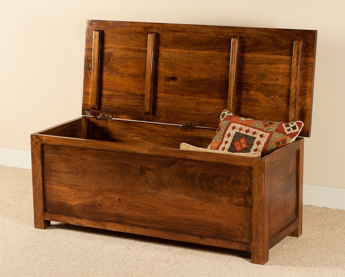 Solid Mango Wood Chest Or Blanket Box Large Casa Bella