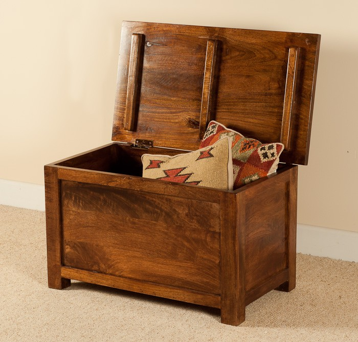Solid Mango Wood Chest Or Blanket Box Small Casa Bella