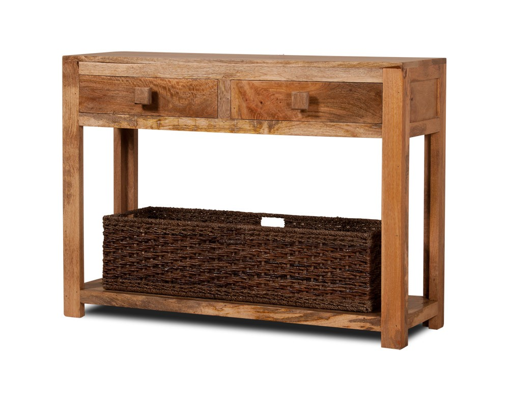 Dakota Mango Wood Console Table Clear Honey Or Walnut
