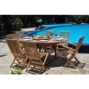 Devon 6-Seater Extending Teak Set 1