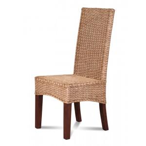 Ibis Rattan Dining Chair - Dark Leg 1