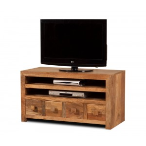 Dakota Light Mango Large 4 Drawer TV Unit 1
