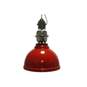 Red Metal Hanging Wall Light