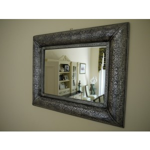 Silver Embossed Mirror