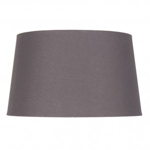 30cm Grey Handloom Tapered Cylinder Shade