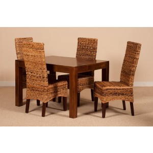 Catalina Rattan 4 Seater Dining Set - Dakota Table 1