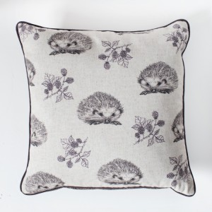 Hedgehog and Blackberry Cushion Plum
